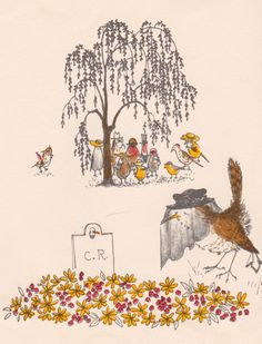 The Courtship, Merry Marriage, and Feast of Cock Robin and Jenny Wren, to which is added the Doleful Death of Cock Robin - illustrated by Barbara Cooney (1965).