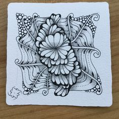 Karima Christine Ritter: Tile mit Ginili 2016 Christine Ritter, Zentangle Patterns, Zentangles, Simple Mandala, Inktober, Tangled, Doodles, Tattoos, Tile