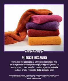 PROSTY TRIK NA PERFEKCYJNIE MIĘKKIE RĘCZNIKI PO PRANIU! Simple Life Hacks, Home Hacks, Good Advice, Kids And Parenting, Good To Know, Cleaning Hacks, Health And Beauty, Helpful Hints, Diy And Crafts