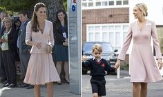 Helen Haslem opted for a dusky pink dress from L.K. Bennett as she greeted the prince and eagle-eyed royal watchers noted its striking resemblance to Kate's Alexander McQueen dress.