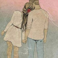 Find images and videos about love, boy and art on We Heart It - the app to get lost in what you love. Anime Couples, Cute Couples, Couples Images, Cute Love, My Love, Cute Couple Drawings, Sketches Of Couples, Cute Drawings For Him, Drawings Of Love Couples