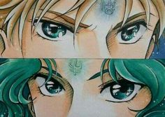 Sailor Uranus and Neptune.... look in my eyes