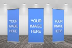 3D Up Banner Ad Online Mockup Template | ShareTemplates