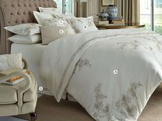 fiori bedding collection for dransfield u0026 ross house features floral embroidered linens that evoke timeless luxury