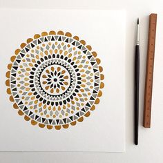 "This is an archival quality print of my original gouache painting ""Yellow Mandala"". The print is 8 x 8 inches (20 x 20 cm), printed on 300g acid free cold press paper using an Epson R3000 printer. All prints are signed and dated with pencil on the front. Please note that colors may vary slightly due to monitor settings. All prints and original artwork will be shipped flat in a cello sleeve inside a stay flat envelope with a DO NOT BEND sign on the front. Shipped from Minneapolis…"
