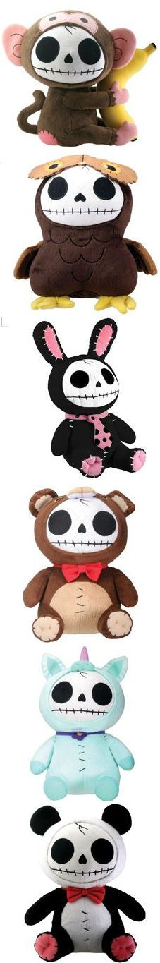 Drop Dead Emo Skully Plushies Stuffed Animals ♥ Seriously how cUte Are these?!!!
