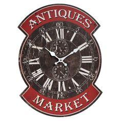 Ceas de perete La Piață Wall Clock Painting, Metal Birds, Stone, Retro, Antiques, Red Color, Clocks, Vintage, Home Decor