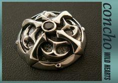 concho/Cross Zirconium Concho/solid925 silver/WILD HEARTS leather&silver  http://item.rakuten.co.jp/auc-wildhearts/ch102t32/