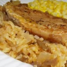 Simply Oven Baked Pork Chops and Rice. Hope it's good. Needed something simple and quick with ingredients already in the kitchen.