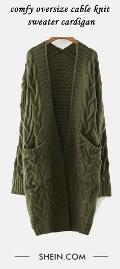 Oversized and extremely comfortable sweater coat. Enough thick for winter!