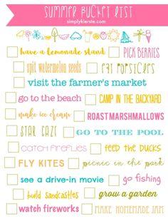 Summer Bucket List Printable | simplykierste.com