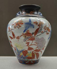 Antique Fukagawa Koransha Porcelain  Vase