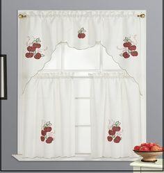 Kitchen Apple Curtain Set