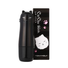 Tony Moly Cat Chu Wink LIPSTICK  ▶ Volume : 3.5g  ▶ Ingredients : Rainbow Complex, Fruit Water   ▶ Product Description Lively color Smooth texture Do not emphasize lip's dead skin cells Makes lips look moist Makes lips look curvy Delicious fruits fragrance  ▶ How to Use 1.     Usi...