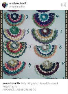 Crochet 101 Learning, Shawl Patterns, Crochet Patterns, Bead Crochet, Crochet Earrings, Colar Boho, Dorset Buttons, Crochet Decoration, Crochet Accessories