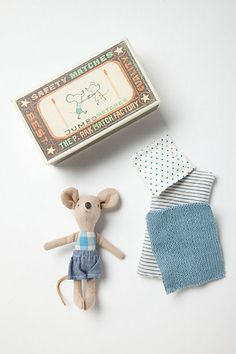 Little Boy Mouse in a Box from Smitten for the Wee Generation