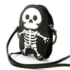 Sleepyville Critters Faux Leather Skeleton Mini Shoulder Bag >>> Find out more about the great product at the image link.