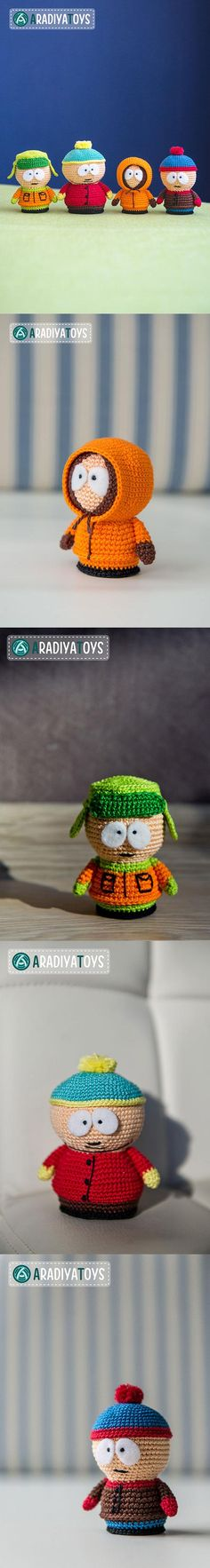 South Park amigurumis patterns