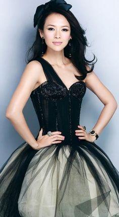 Zhang Ziyi ♥ in black tulle