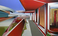 martin kobe Kobe, Contemporary Art, Landscapes, Stairs, Paintings, Architecture, Image, Design, Home Decor