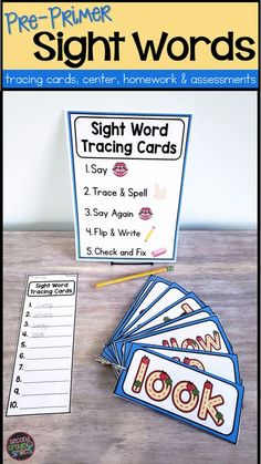 Includes everything your students need for simple and effective tactile finger tracing practice of high frequency words at school or at home and teacher tools for assessment and progress monitoring. So much more engaging than traditional sight word flashc Learning Sight Words, Sight Word Practice, Sight Word Games, Sight Word Activities, Learning Activities, Classroom Activities, Teaching Vocabulary, Teaching Phonics, Teaching Kindergarten