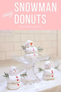 Easy Snowman Donuts.