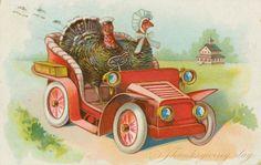 Thanksgivng vintage postcard