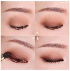 Korean Makeup Tips, Asian Eye Makeup, Korean Makeup Tutorials, Asian Makeup Natural, Natural Eye Makeup Step By Step, Ulzzang Makeup Tutorial, Korean Makeup Look, Asian Beauty, Korean Beauty