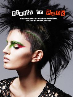 The Fashion Gone Rogue 'Pretty in Punk' Photoshoot Stars Sasha Panika #mohawk trendhunter.com