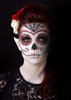 Sugar Skull Fantasy Makeup 3 by ~Kan3xO on deviantART