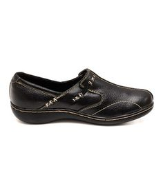 Another great find on #zulily! Black Clara Button Clog by Cushionaire #zulilyfinds