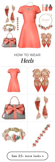 """Beachy Wedding Guest..."" by gemique on Polyvore featuring Betsey Johnson, Monique Lhuillier, Valentino, Smith & Cult and Christian Dior"