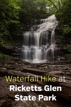 Hiking the waterfall trails at Ricketts Glen State Park in Pennsylvania