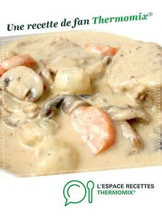 Blanquette of veal by cilou from Hauts de France. A fan recipe to find in the Meat category on www.espace-recett …, of Thermomix®. Crockpot Recipes For Two, Egg Recipes, Easy Baked Chicken, Baked Chicken Recipes, Chicken Tenderloin Recipes Healthy, Veal Stew, Lidl, A Food