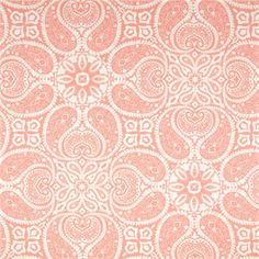 Tibi Flamingo Pink Paisley Cotton Print Drapery Fabric by Premium Prints - 49040 | BuyFabrics.com