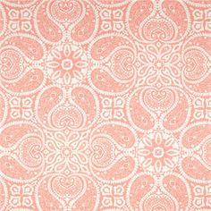 Tibi Flamingo Pink Paisley Cotton Print Drapery Fabric by Magnolia