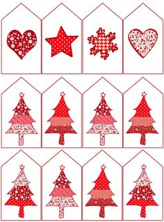 Printable from Design Crafty. Some Red and White Christmas… Christmas Present Tags, Christmas Gift Tags Printable, Free Printable Gift Tags, Christmas Labels, Free Christmas Printables, Homemade Christmas Gifts, Christmas Deco, Christmas Colors, Christmas Crafts
