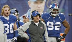 Jeremy Shockey, Tom Coughlin & Michael Strahan #nyg