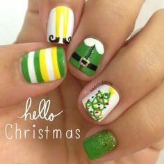 Xmas Nails, Get Nails, Love Nails, How To Do Nails, Pretty Nails, Valentine Nails, Halloween Nails, Holiday Nail Art, Christmas Nail Designs