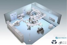 Hybrid OR Operating Room 3D Philips FD20 Dual Cockpit Skytron Booms