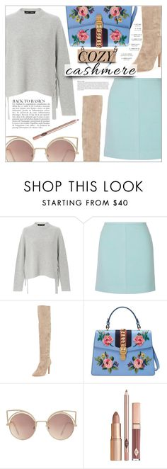 """Cozy Cashmere..."" by chocohearts08 ❤ liked on Polyvore featuring Proenza Schouler, PALLAS, Joie, Gucci, Anja and MANGO"