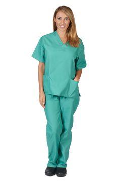 Natural Uniforms Women's Solid V-Neck Scrub Set Medical Scrub Tops and Pants Discount Scrubs, Cheap Scrubs, Gear Logo, Medical Uniforms, Womens Scrubs, Scrub Sets, Medical Scrubs, Dark Navy Blue, Teal