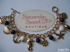 Life at Sea Nautical Charm Bracelet by Sincerely Sweet Boutique