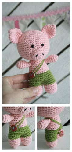 Crochet Amigurumi Little Pig Free Pattern
