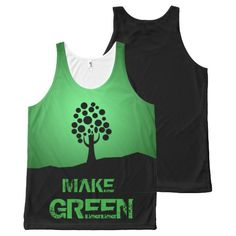 Make Green All-Over Printed Unisex Tank