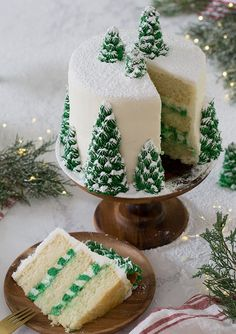 Christmas Tree Cake, Christmas Desserts, Christmas Treats, Christmas Baking, Christmas Fun, Christmas Cookies, Beautiful Christmas, Christmas Kitchen, Christmas Parties