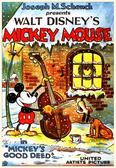 Mickey's Good Deed 1932. I love this! It is my favorite disney Christmas short! love love love!