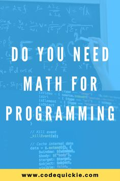 Most people think that you need to be good at math to learn to code, but is that true. Do you really need math to be a good programmer? Teaching Technology, Teaching Biology, Data Science, Life Science, Environmental Science, Computer Coding, Computer Science, Coding Logo, Coding For Beginners