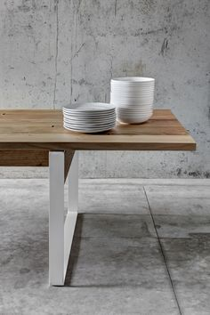 Mesa de jantar retangular de madeira LA PUNT by FIORONI   #design act romegialli #table