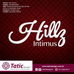 Criação da nova logo Hillz Intimus. #design #logo #identidadevisual #modaintima #logomarca #logo #logotipo #taticdesign